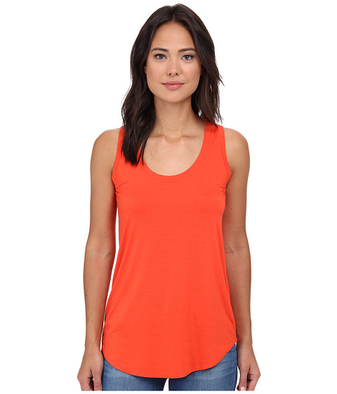 Three Dots - Lightweight Viscose Long Tank (Blaze) Women