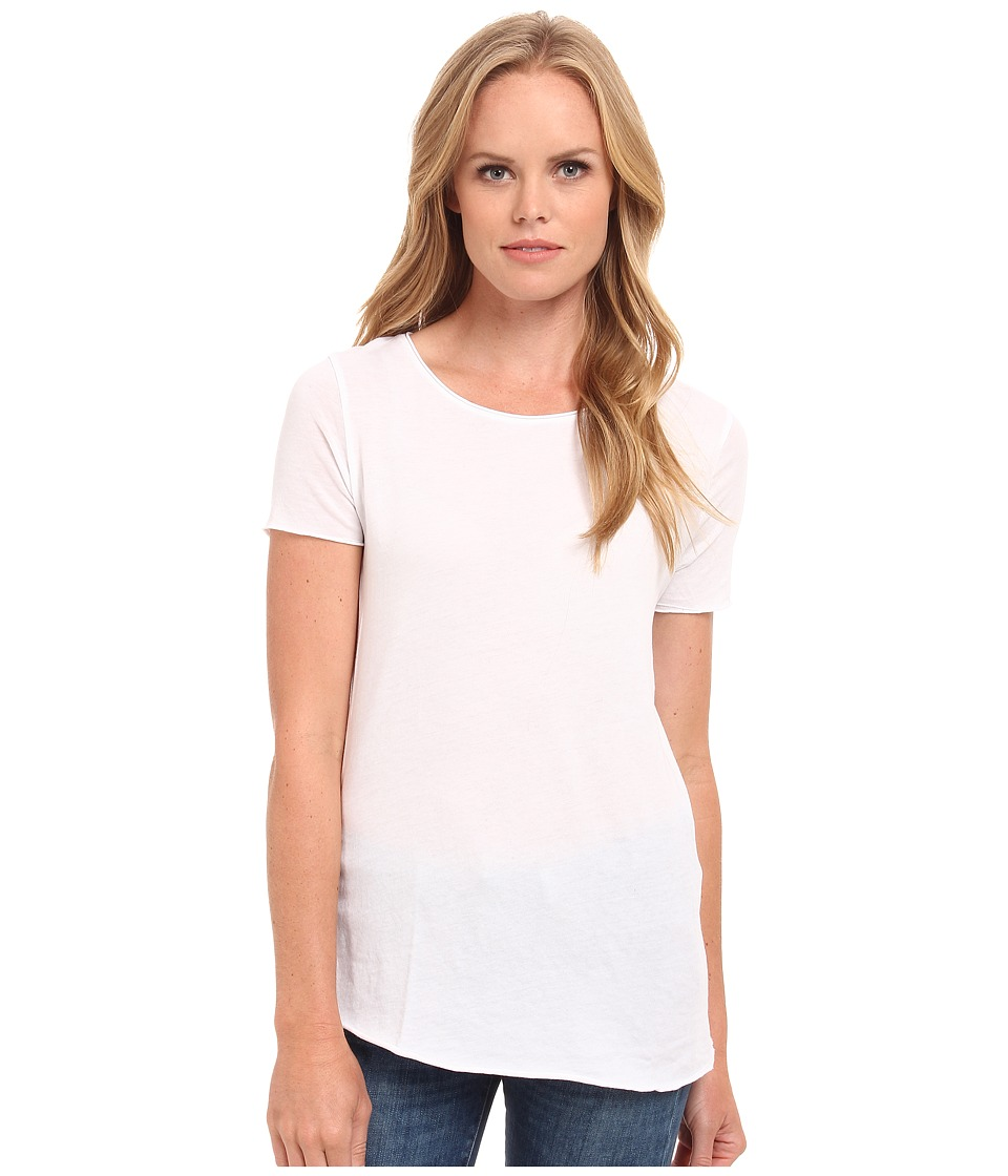 Three Dots - Crew Neck Tee (White) Women's Short Sleeve Pullover