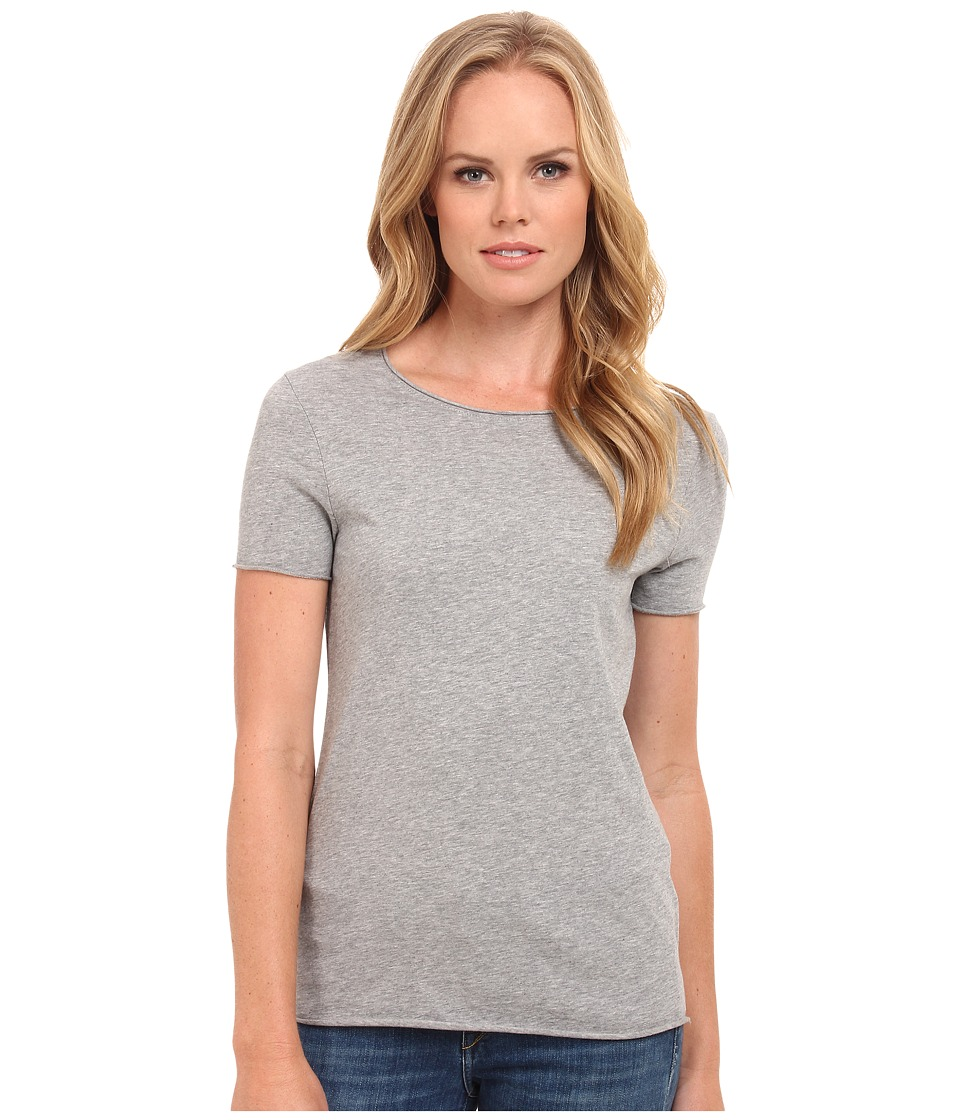 Three Dots - Crew Neck Tee (Granite) Women's Short Sleeve Pullover