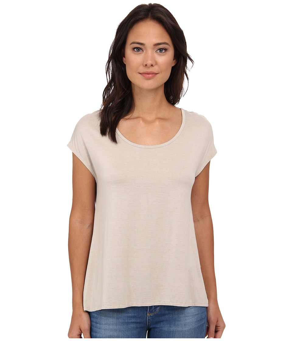 Three Dots - Cap Sleeve Relaxed Tee (Caribbean Sand) Women's Short Sleeve Pullover