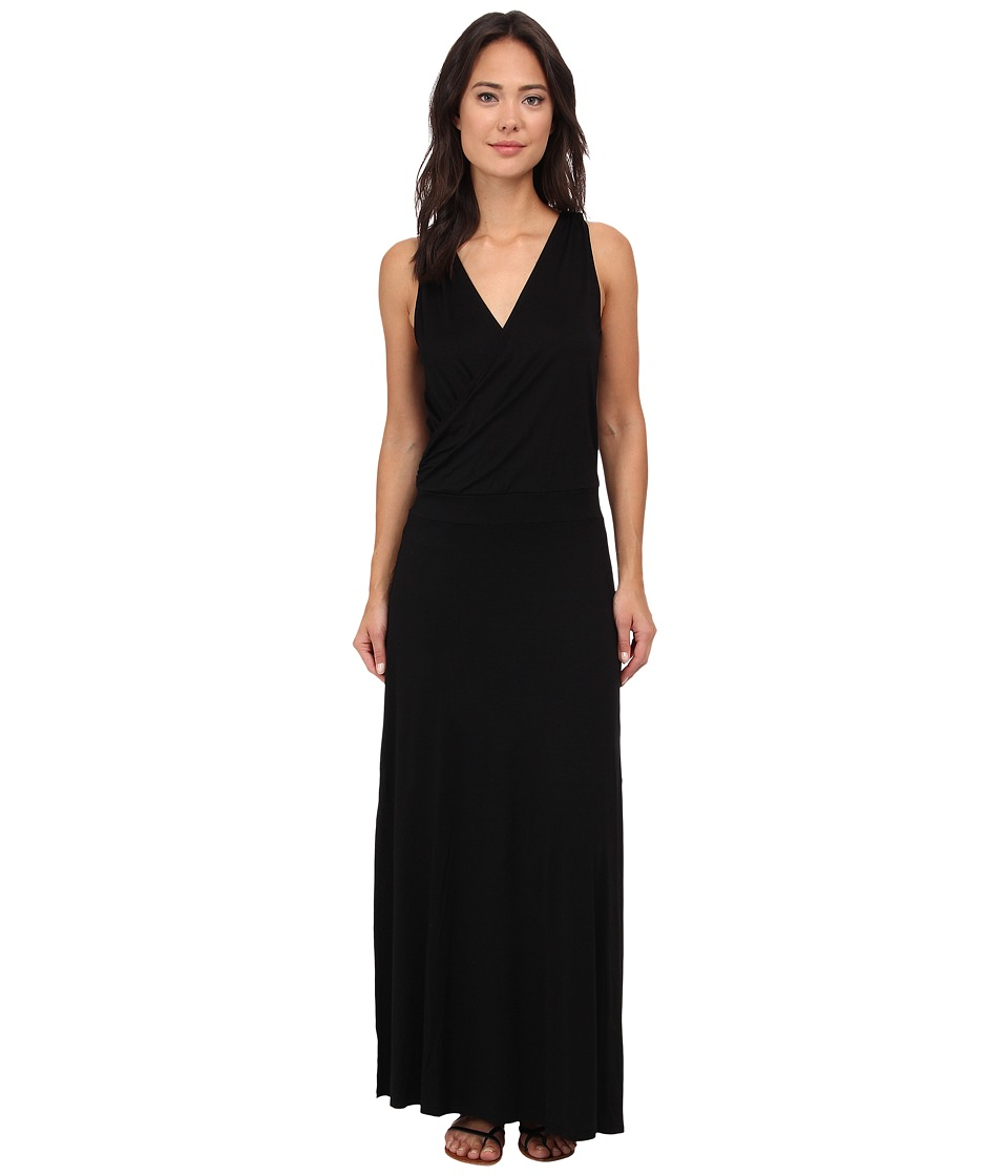 Three Dots - Crossover Maxi Dress (Black) Women's Dress