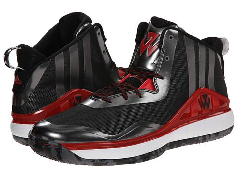 adidas - J Wall (Black/Scarlet/White) Men