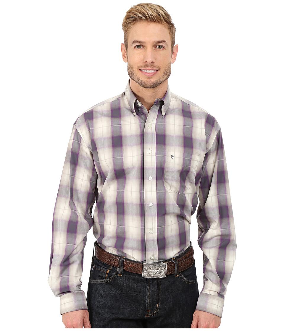 Stetson - Avon Ombre (Purple) Men's Long Sleeve Button Up