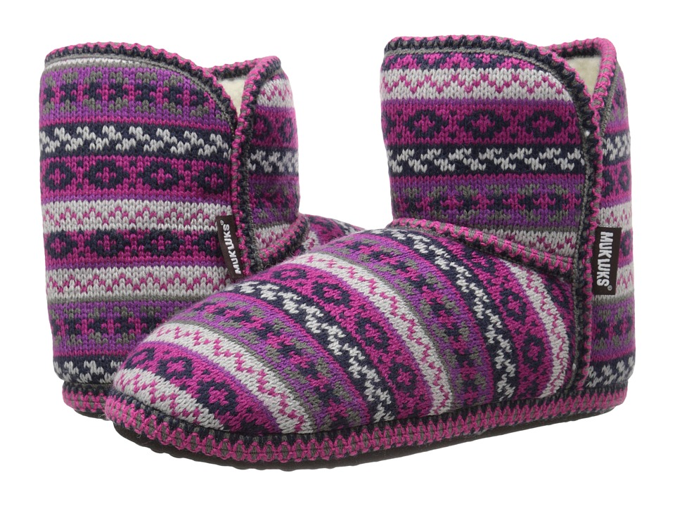 MUK LUKS - Short Boot (Purple) Women