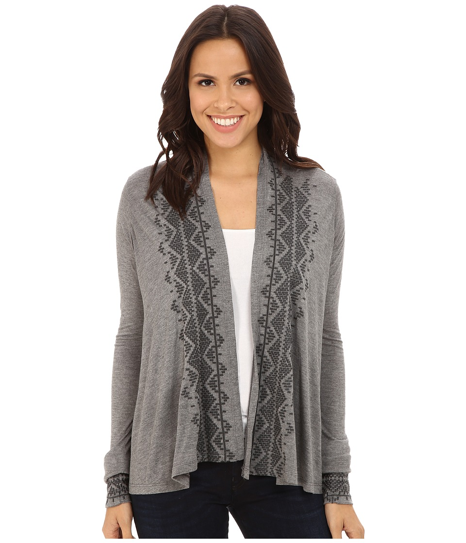 Stetson - Heather Grey Cropped Cardigan (Grey) Women