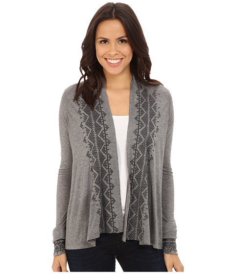 Stetson - Heather Grey Cropped Cardigan (Grey) Women's Sweater