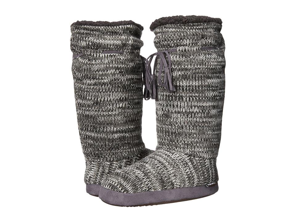 MUK LUKS - Tall Grommet Tie Boot (Grey 1) Women