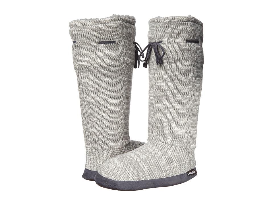 MUK LUKS - Tall Grommet Tie Boot (Light Grey) Women