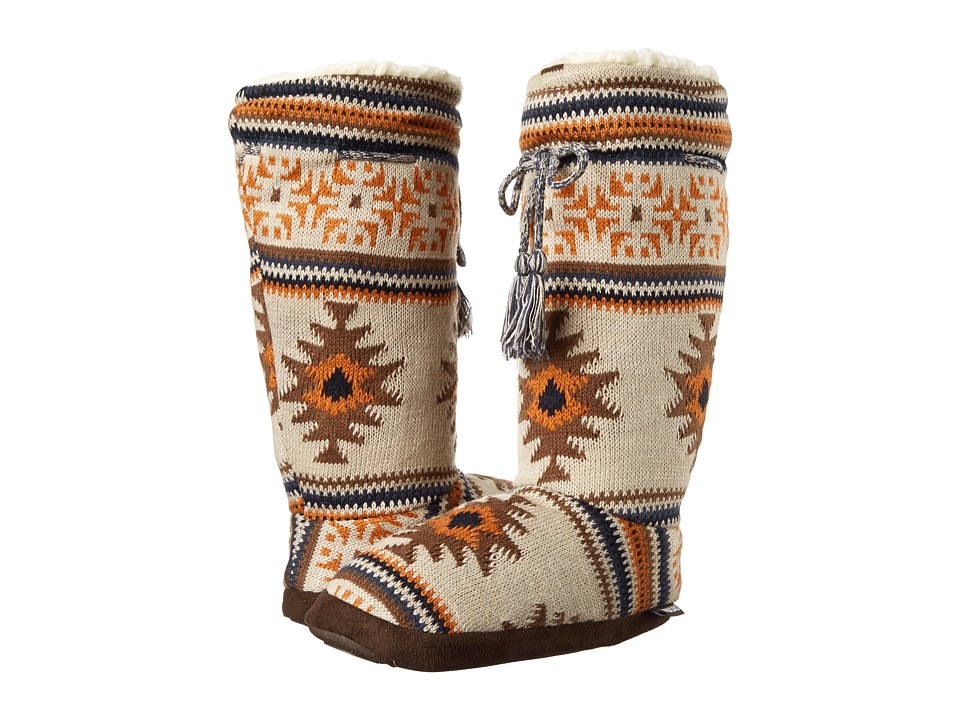 MUK LUKS - Tall Grommet Tie Boot (Tan) Women's Boots