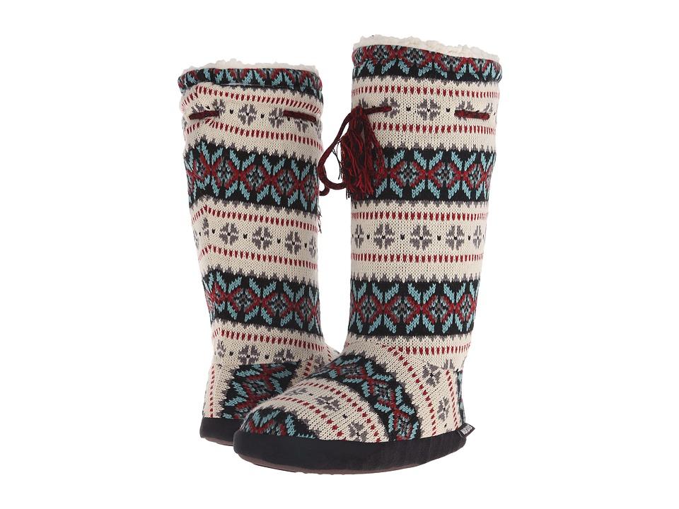 MUK LUKS - Tall Grommet Tie Boot (Ivory) Women