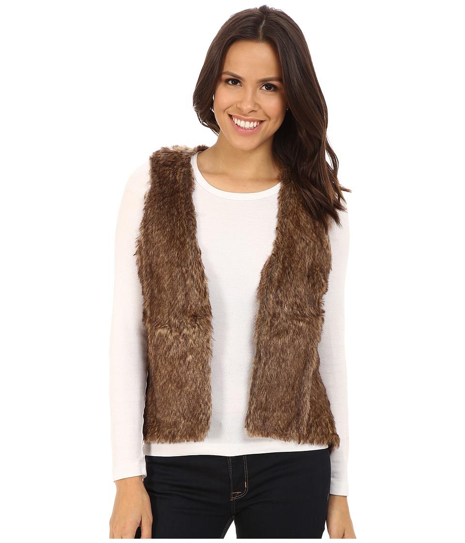 Stetson - Faux Fur Cropped Vest (Brown) Women's Vest