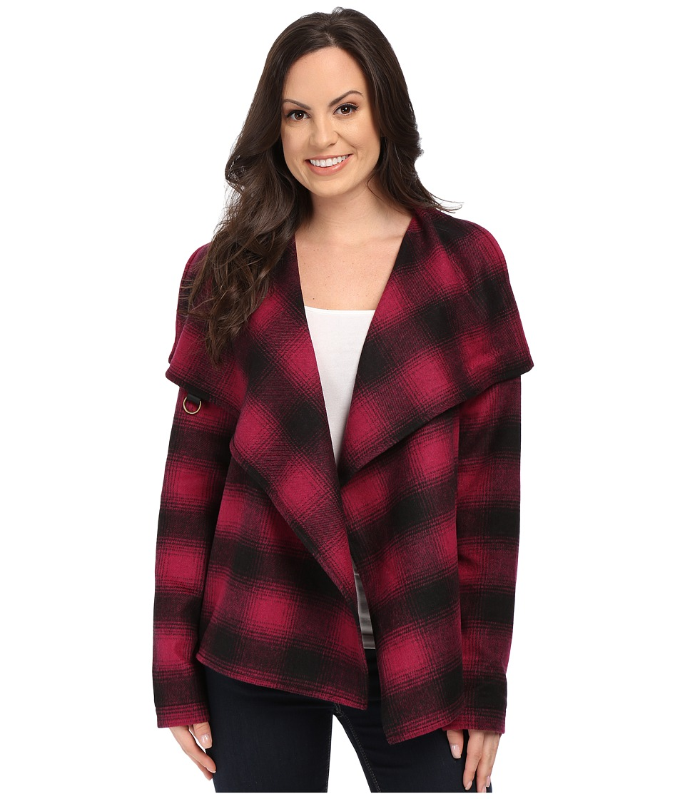 Stetson - Magenta Plaid Jacket (Pink) Women's Coat