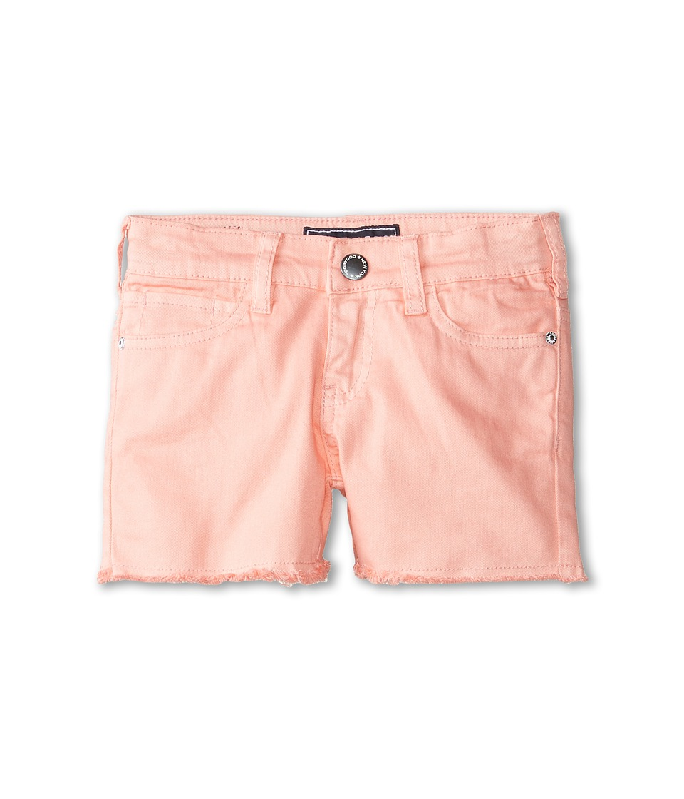 Toobydoo - Jeans Shorts in Coral (Toddler/Little Kids/Big Kids) (Coral) Girl