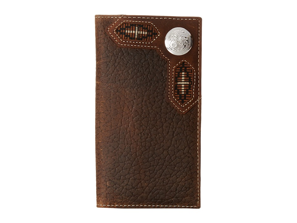 M&F Western - Ribbon Inlay Concho Rodeo Wallet (Brown) Wallet Handbags