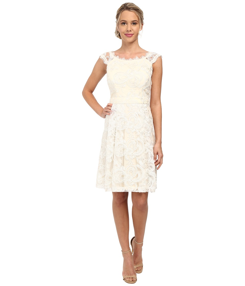 Jessica Simpson Lace Social Dress with Open Back (Ivory) Women
