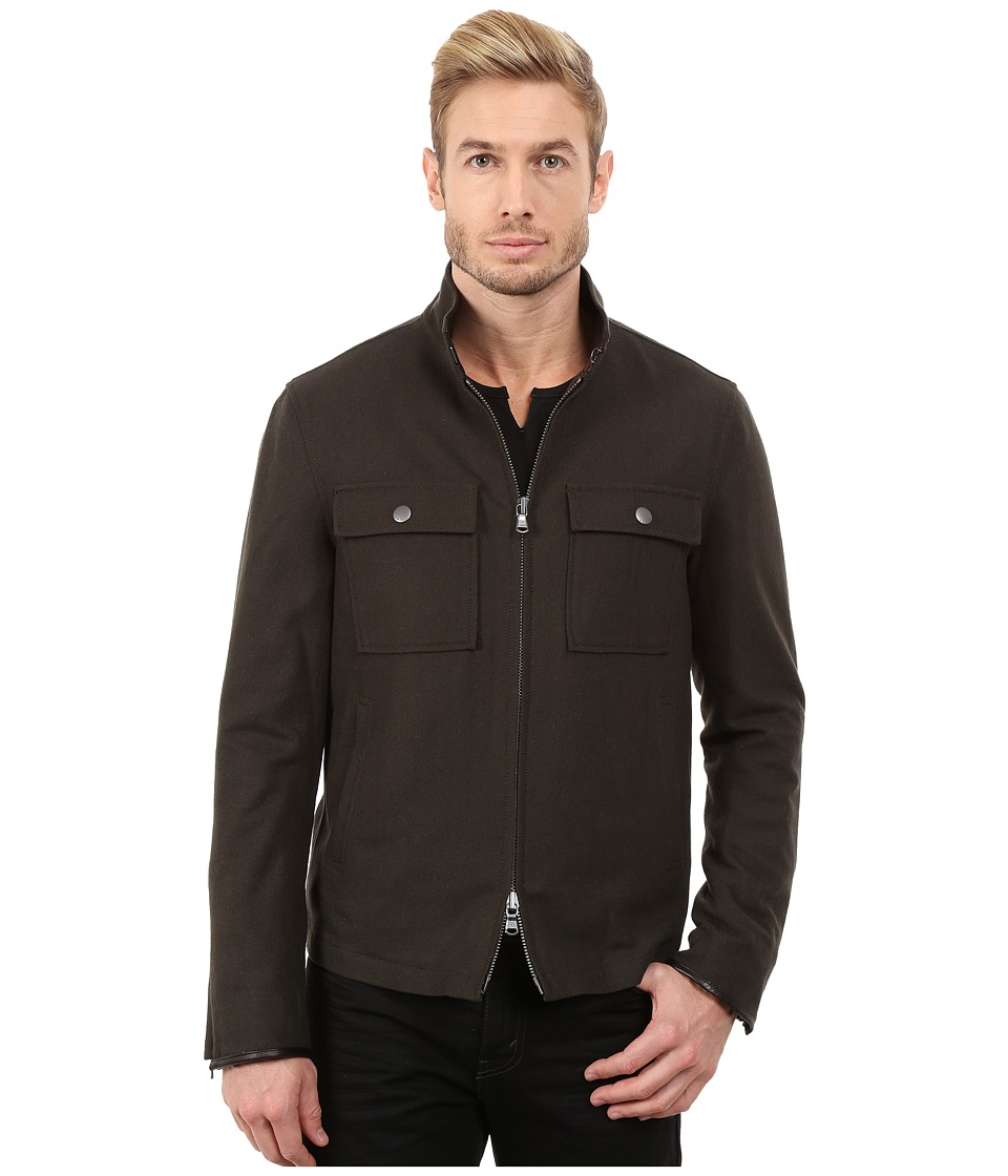 John Varvatos Star U.S.A. - Waister Jacket with Chest Patch Pockets O1249R3L (Peet) Men's Coat