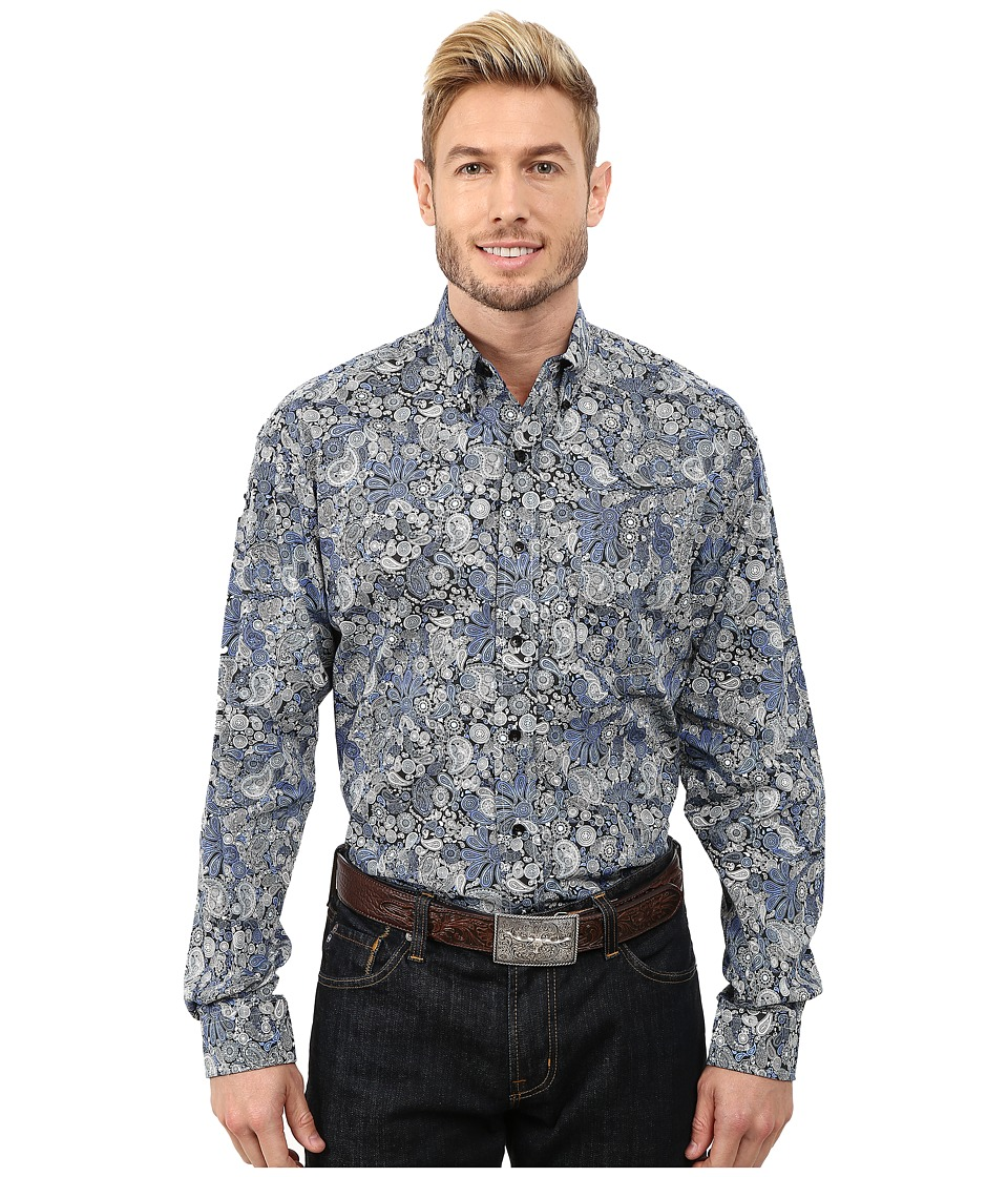 Stetson - Spyrograph Paisley Print (Blue) Men's Clothing