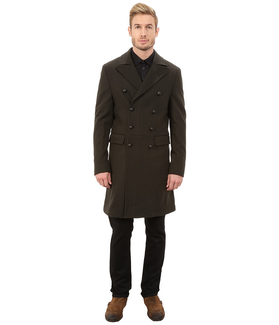 John Varvatos Star U.S.A. - Military Inspired Double Breasted Peacoat O1288R3L (Peet) Men's Coat