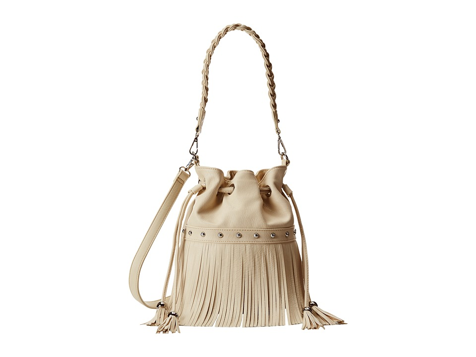 M&F Western - Fringe Bucket Bag (Ivory) Handbags