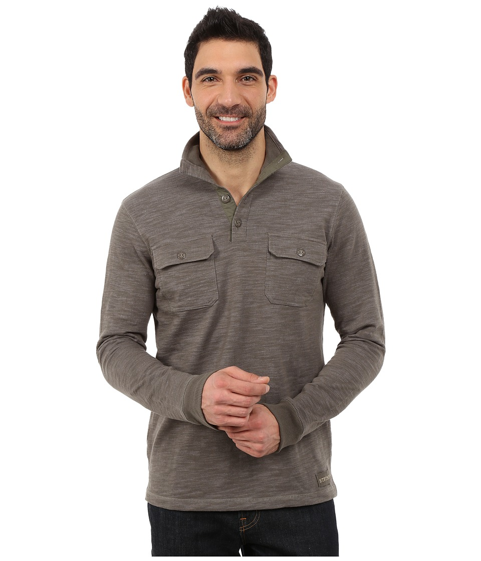Stetson - Bamboo Look Knit Pullover (Green) Men's Clothing