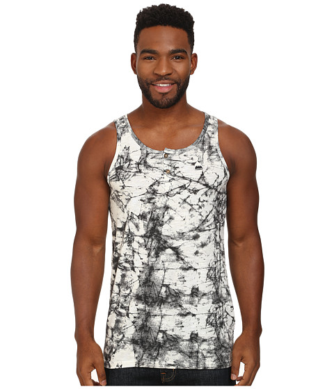Burton - Batson Tank Top (True Black Stone Print) Men