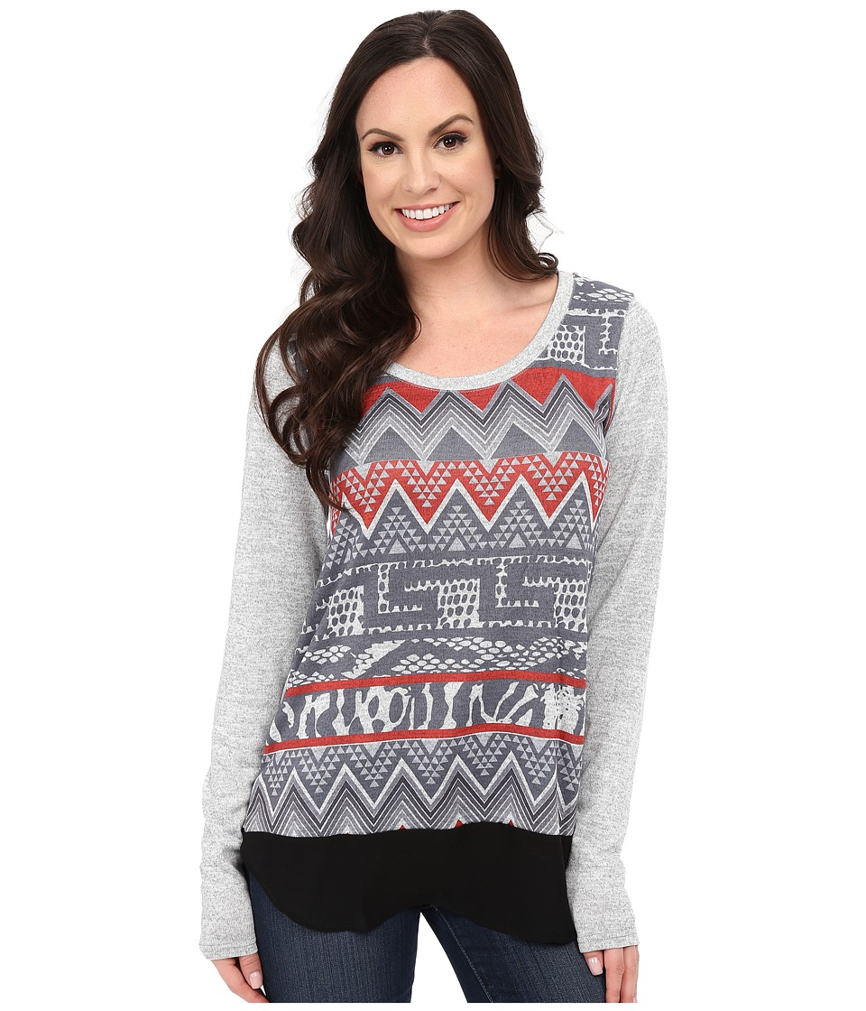 Roper - 0020 Sweater Jersey Tunic (Grey) Women's T Shirt