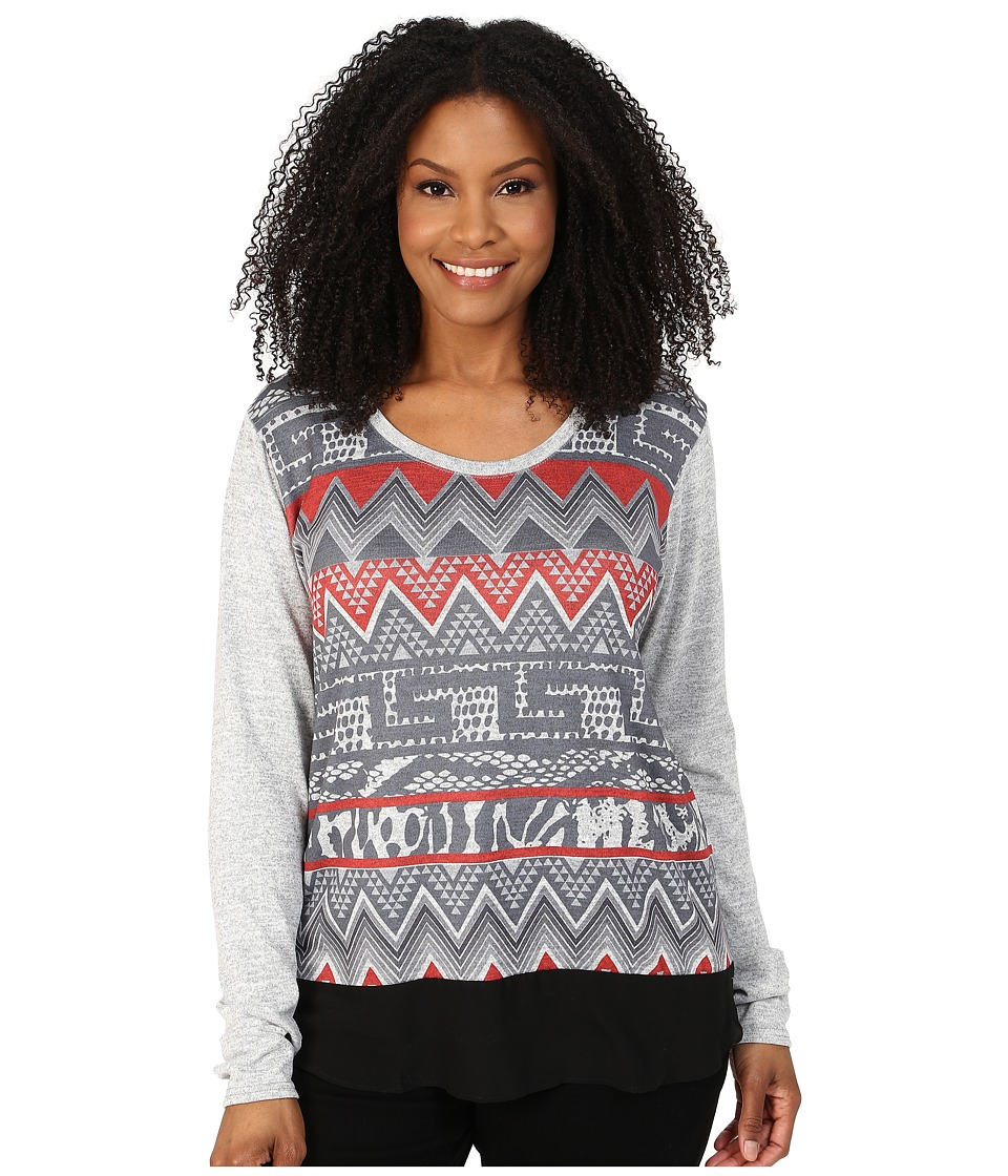 Roper - Plus Size 0020 Sweater Jersey Tunic (Grey) Women's Sweater