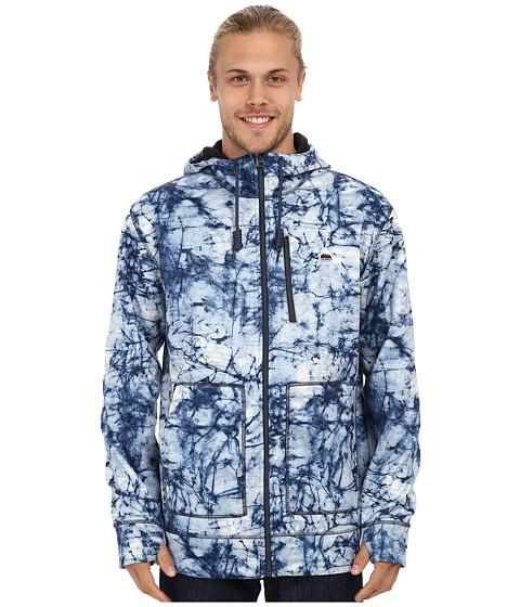 Burton - Bonded Hoodie (Indigo Stone Print) Men's Sweatshirt