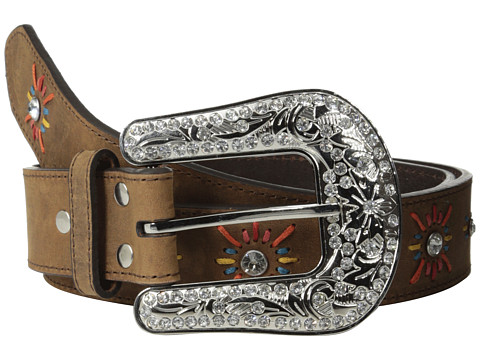 M&F Western - Nocona Starburst Belt (Brown) Women's Belts