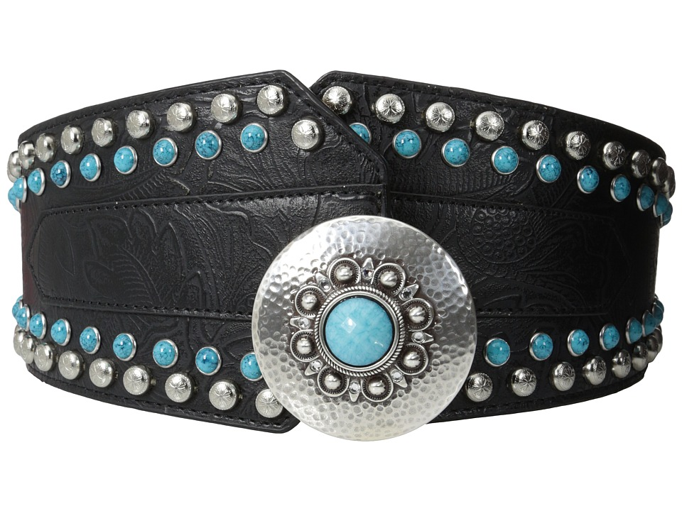 M&F Western - Nocona Wide Brads Belt (Black) Women's Belts