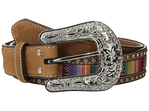 M&F Western - Nocona Southwest Ribbon Inlay Belt (Brown) Women's Belts