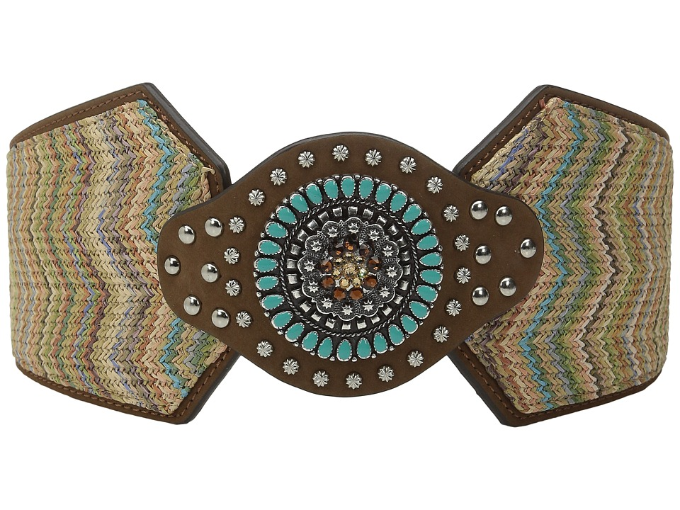 M&F Western - Nocona Wide Chevron Belt (Brown) Women's Belts