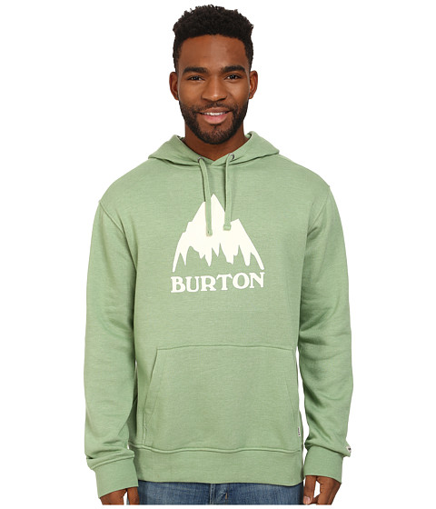 Burton - Classic Mountain Recycled Pullover Hoodie (Watercress Heather) Men
