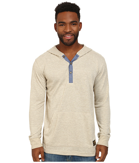 Burton - Dexter Hooded Henley (Vanilla Stripe) Men