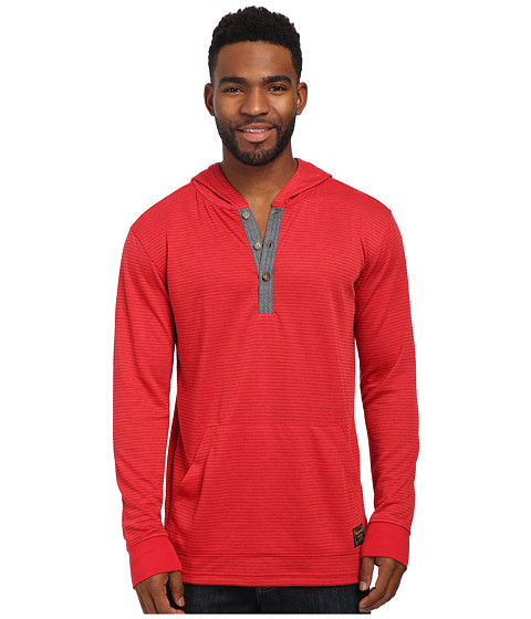 Burton - Dexter Hooded Henley (Bittersweet Stripe) Men's T Shirt