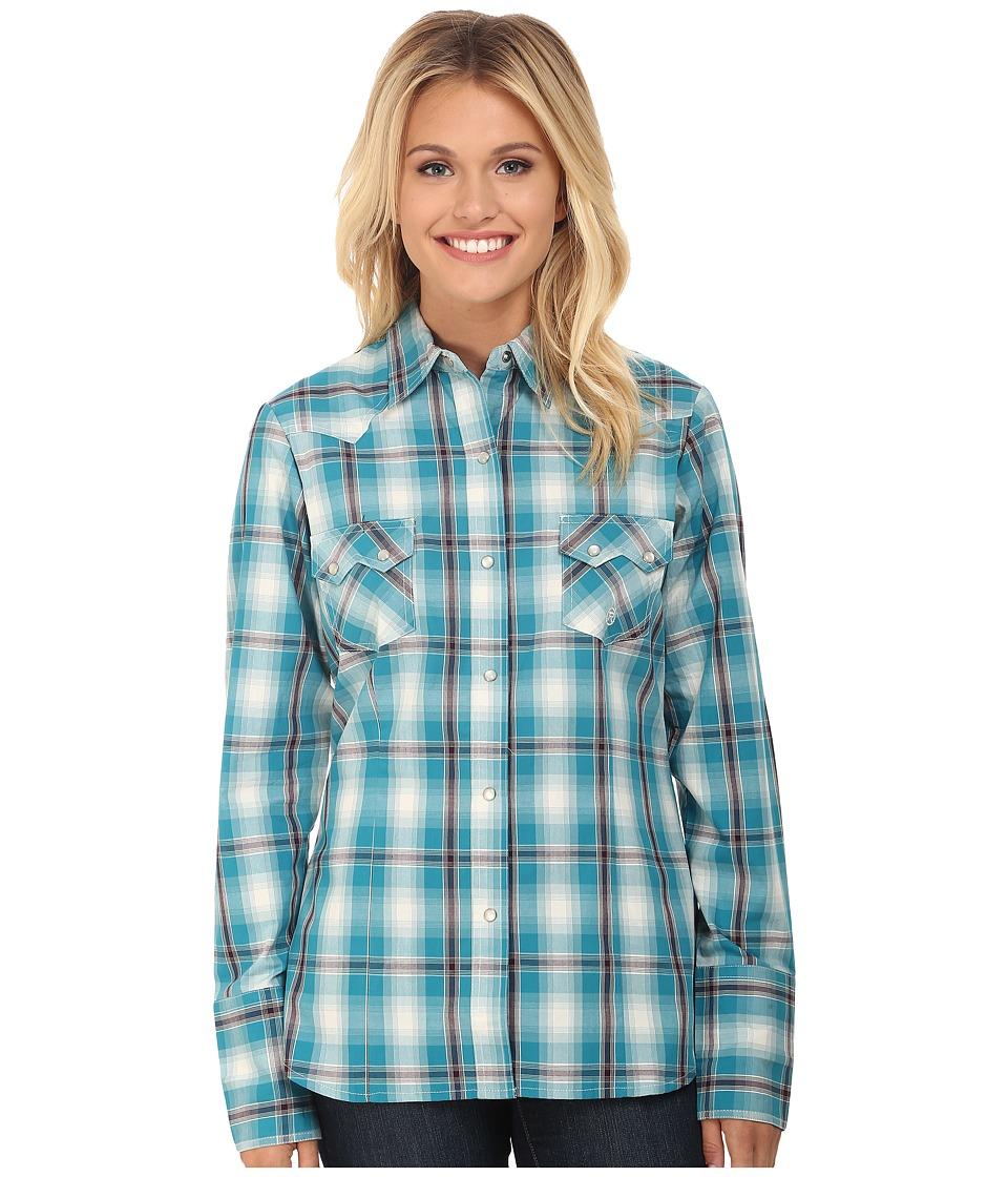 Roper - 0049 Box Plaid (Blue) Women's Clothing