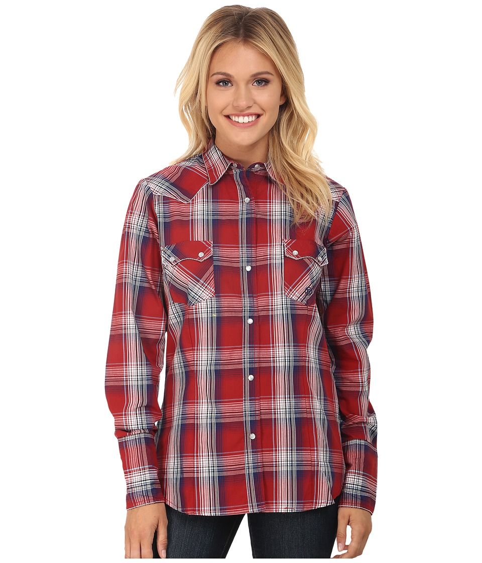 Roper - 0046 Persimmon Plaid (Red) Women's Clothing