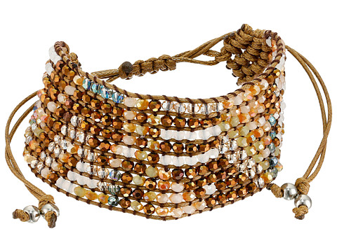 M&F Western - Cheveron Woven Beaded Bracelet (Brown) Bracelet