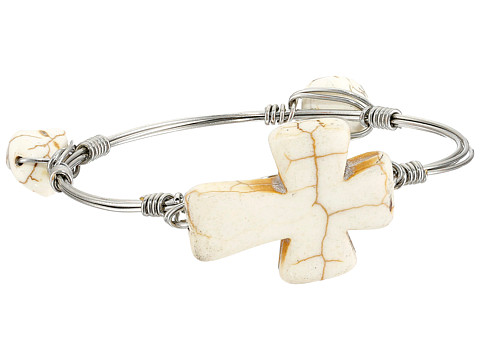 M&F Western - Wired Cross Bracelet w/ Stones Bangle (White) Bracelet