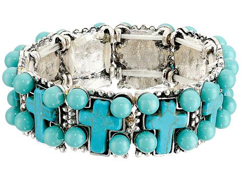 M&F Western - Cross Stone Stretch Bracelet (Turquoise) Bracelet