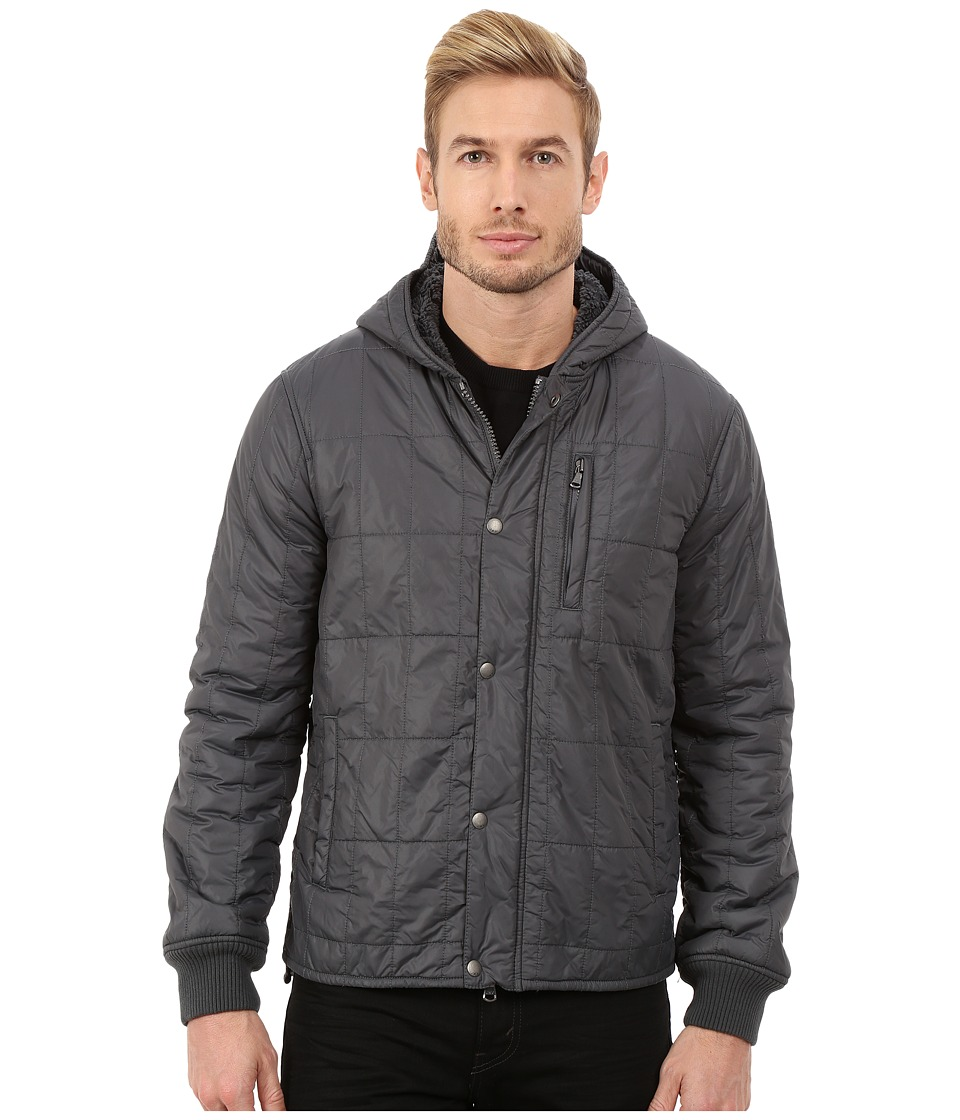 John Varvatos Star U.S.A. - Quilted Sherpa Lined Hooded Lightweight Outerwear Jacket O1292R3B (Licorice) Men's Coat