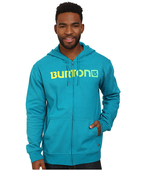 Burton - Logo Horizontal Full Zip Hoodie (Enamel Blue) Men's Sweatshirt