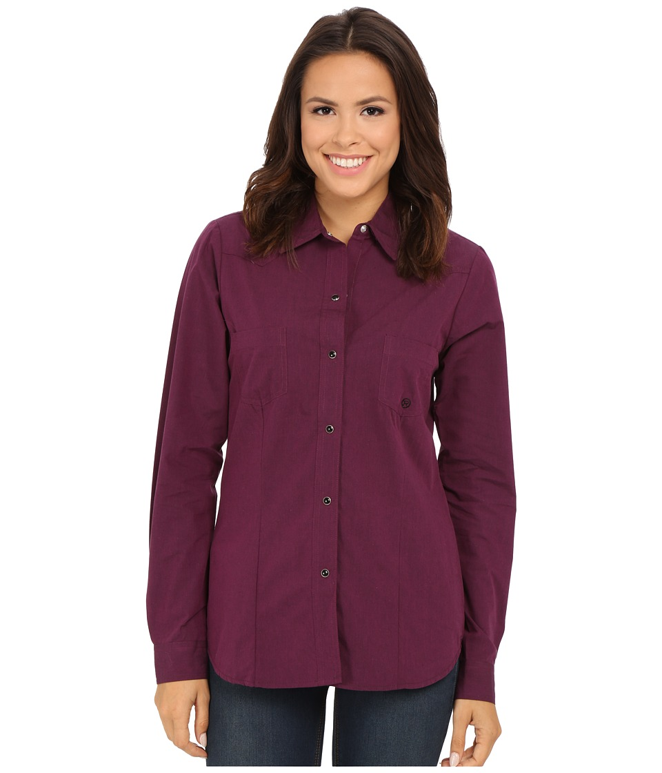 Roper - 0059 Black Fill Poplin (Purple) Women's Clothing
