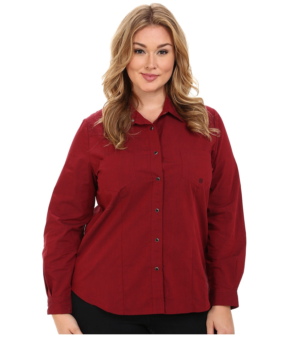 Roper - Plus Size 0059 Black Fill Poplin (Red) Women's Clothing