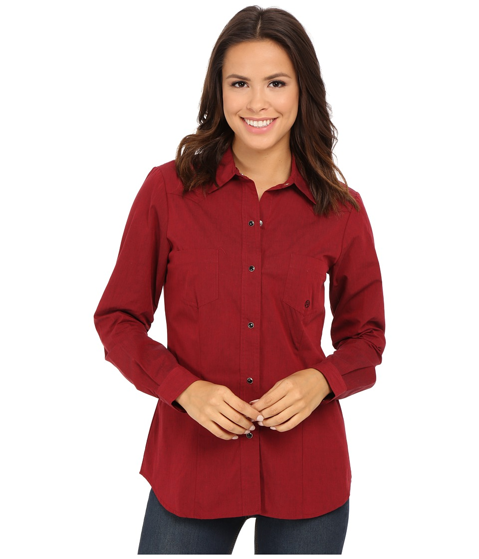 Roper - 0059 Black Fill Poplin (Red) Women's Clothing