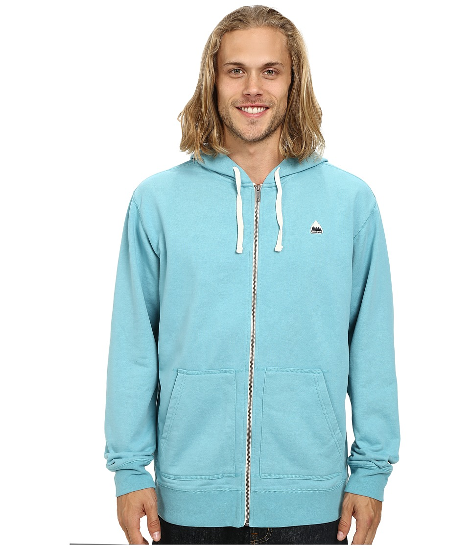 Burton - Roe Full Zip Hoodie (Aqua) Men's Sweatshirt