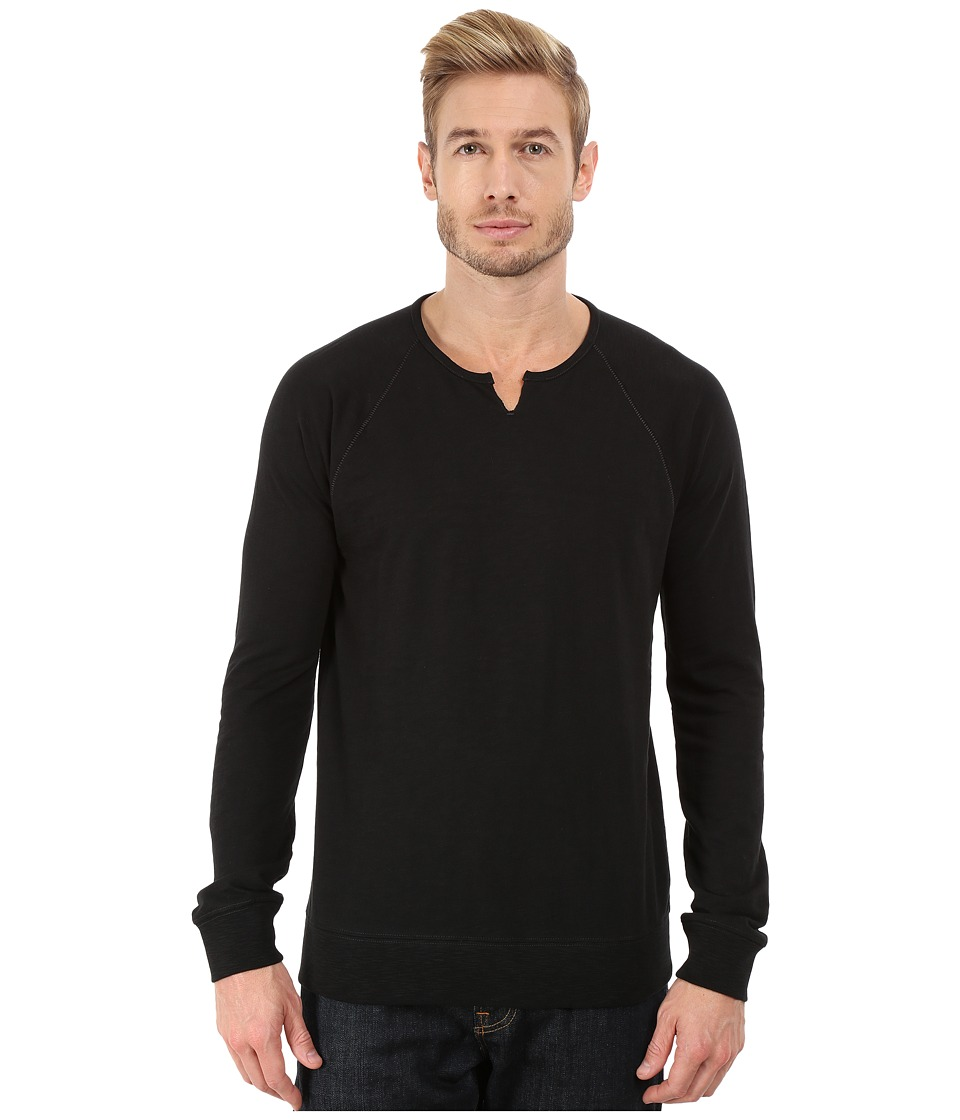 John Varvatos Star U.S.A. - Long Sleeve French Terry Raglan Sweatshirt K2405R3B (Black) Men