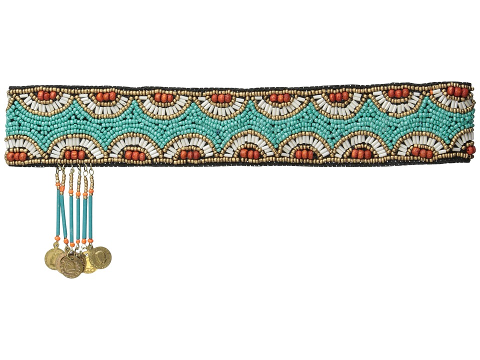 M&F Western - Beaded Boho Headband (Turquoise) Headband