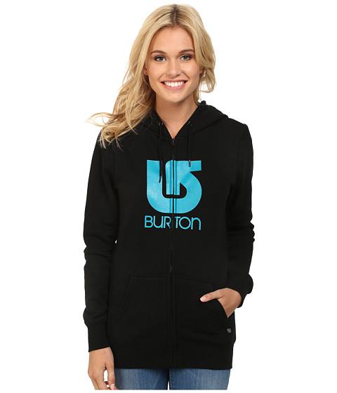 Burton - Her Logo Vertical Full Zip Hoodie (True Black) Women's Sweatshirt