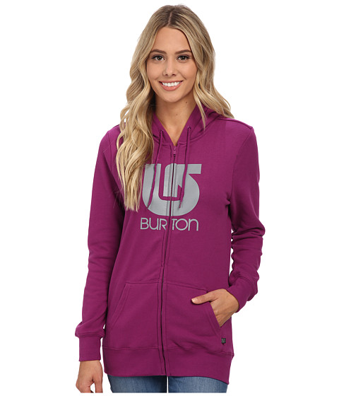 Burton - Her Logo Vertical Full Zip Hoodie (Hollyhock) Women's Sweatshirt